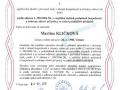 1. Osvědčení podle zákona č. 309/2006 Sb., o zajištění dalších podmínek bezpečnosti a ochrany zdraví práci, ve znění pozdějších předpisů (BOZP)